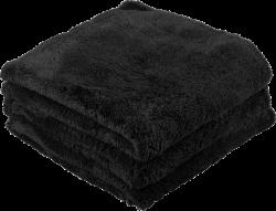 Chemical Guys Happy Ending Black Edgeless Microfiber Towel 3
