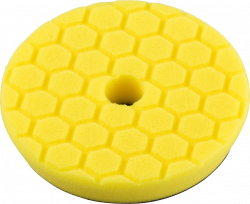 Chemical Guys Hex-Logic Quantum Heavy Cutting Pad. Yellow. 140mm