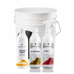 Ultracoat Bøtte m/Shampoo+ 500ml, Iron+ 500ml og Master Wash 500ml