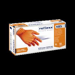 Reflexx Orange Heavy Duty Nitril Hansker N85 - 50-pack (L)